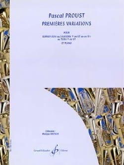 Première variations - Pascal Proust - Partition - laflutedepan.com