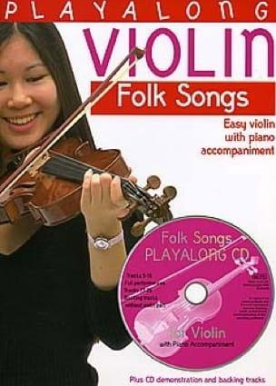Playalong Violin Folk Songs Partition Violon - laflutedepan