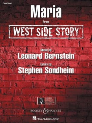 Leonard Bernstein - Maria Film West Side Story - Partition - di-arezzo.fr
