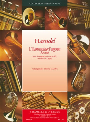 Georg Friedrich Haendel - L'harmonieux forgeron (air variée) - Partition - di-arezzo.fr