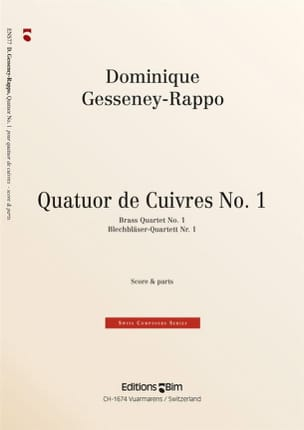Dominique Gesseney-Rappo - Quatuor de Cuivres N° 1 - Partition - di-arezzo.fr