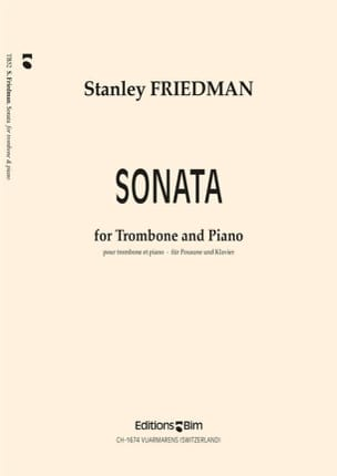 Stanley Friedman - Sonata - Partition - di-arezzo.fr