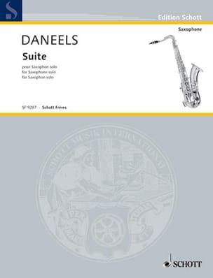 Suite Pour Saxophone Solo François Daneels Partition laflutedepan