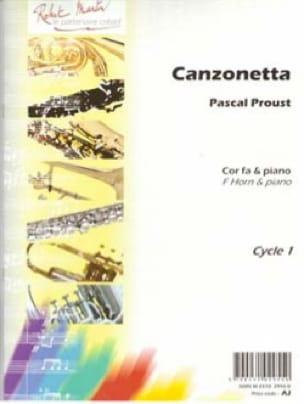 Pascal Proust - Canzonetta - Partition - di-arezzo.fr