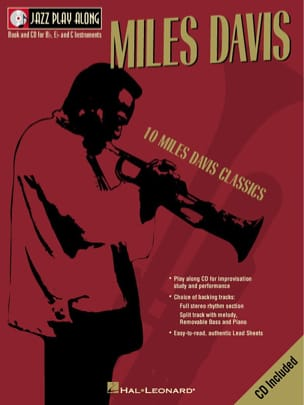 Miles Davis - Jazz play-along volume 2 - Miles Davis - Partition - di-arezzo.fr