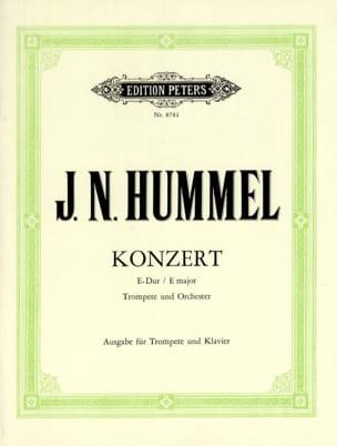 Konzert E-Dur HUMMEL Partition Trompette - laflutedepan