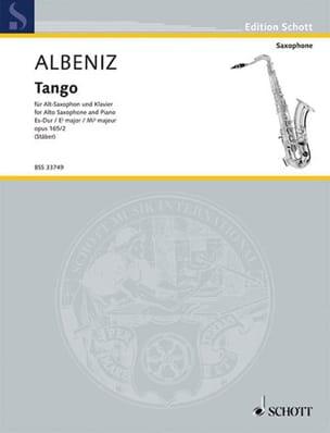 Isaac Albeniz - Tango Opus 165 N° 2 - Partition - di-arezzo.fr