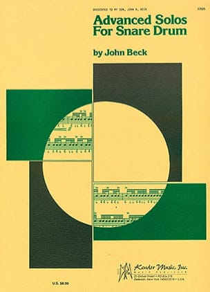 John Beck - Advanced Solo For Snare Drum - Sheet Music - di-arezzo.co.uk
