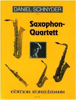 Saxophon-Quartett Daniel Schnyder Partition Saxophone - laflutedepan
