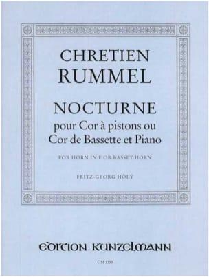 Chretien Rummel - Nocturne - Partition - di-arezzo.fr