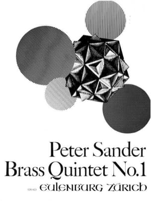 Brass Quintet N° 1 Peter Sander Partition laflutedepan