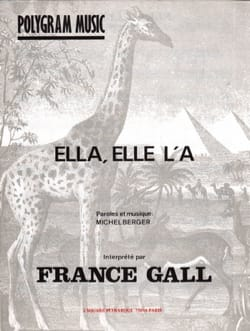 France Gall - エラ、彼女はAです - 楽譜 - di-arezzo.jp
