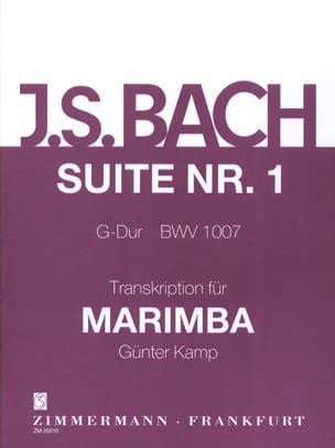 BACH - Suite N° 1 G-Dur BWV 1007 - Partition - di-arezzo.fr