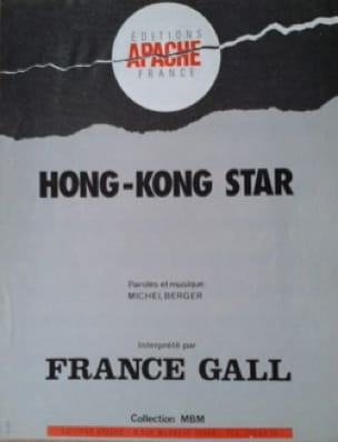 France Gall - Hong Kong Star - Sheet Music - di-arezzo.co.uk