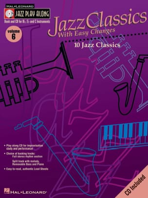 Jazz play-along volume 6 - Jazz Classics With Easy Changes laflutedepan