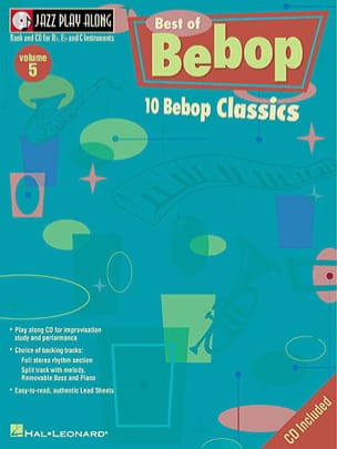 - Jazz play-along volume 5 - The Best Of Bebop - Partition - di-arezzo.fr