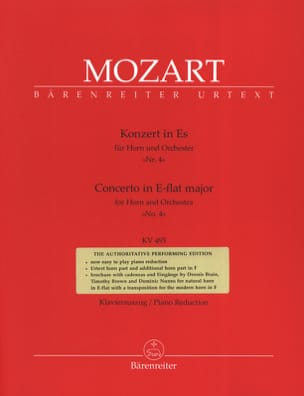 Concerto N° 4 In E-Flat Major KV 495 MOZART Partition laflutedepan
