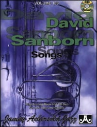 METHODE AEBERSOLD - Volume 103 - David Sanborn: Songs - Sheet Music - di-arezzo.com