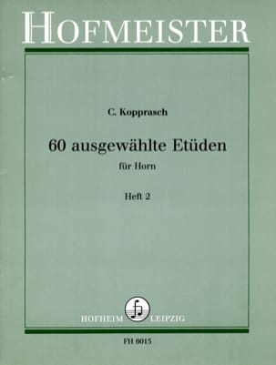Georg Kopprasch - 60 Ausgewählte Etüden Für Horn Heft 2 - Partition - di-arezzo.fr