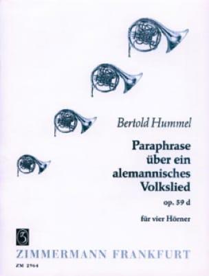 Paraphase Uber Ein Alemannisches Volkslied Opus 59d - laflutedepan.com