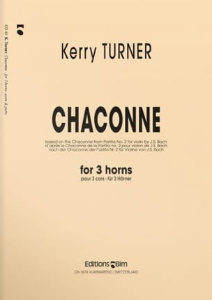 Kerry Turner - Chaconne - Partition - di-arezzo.fr