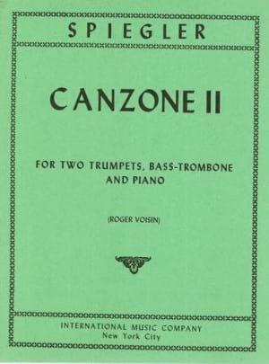 Matthias Spiegler - Canzone 2 - Partition - di-arezzo.fr
