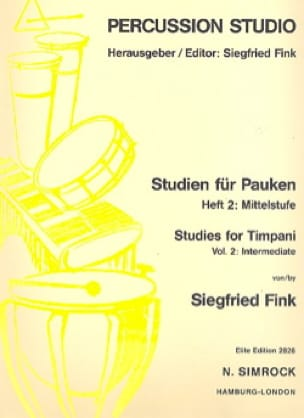 Siegfried Fink - Studies For Timpani Volume 2 Intermediate - Sheet Music - di-arezzo.com
