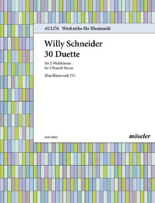 Willy Schneider - 30 Duette - Partition - di-arezzo.fr