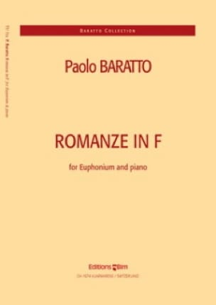 Paolo Baratto - Romanze In F - Partition - di-arezzo.fr