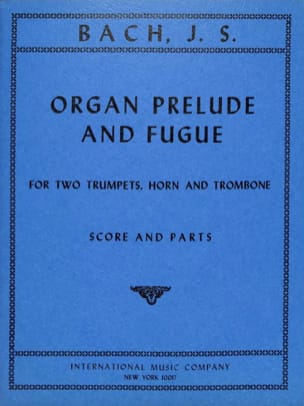 Organ Prélude And Fugue BACH Partition laflutedepan