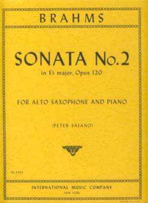 BRAHMS - Sonata No. 2 In Ebore Major Opus 120 - Sheet Music - di-arezzo.com