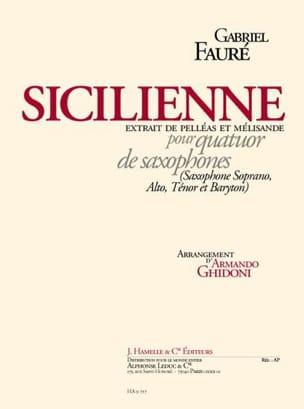 Sicilienne Pelléas Et Mélisande Gabriel Fauré Partition laflutedepan