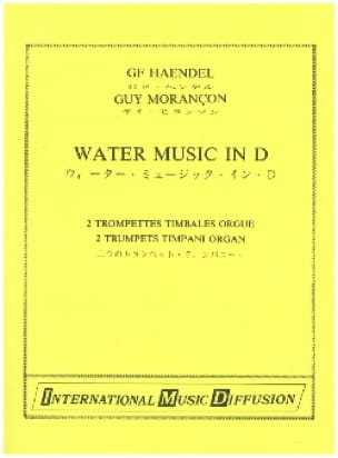 HAENDEL - Water Music in D - Partition - di-arezzo.fr