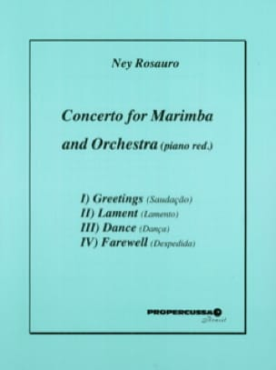 Ney Rosauro - Concerto For Marimba / Piano - Partition - di-arezzo.fr