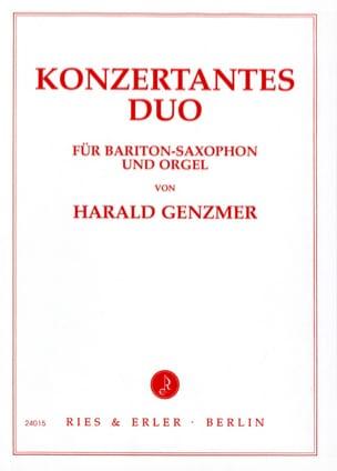Harald Genzmer - Konzertantes Duo - Partition - di-arezzo.fr