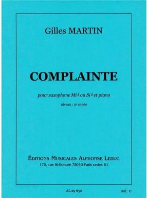 Gilles Martin - Complainte - Partition - di-arezzo.fr