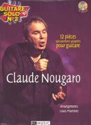 Claude Nougaro - Solo Guitar N ° 3 - 12 Specially Adapted Parts For Guitar - Sheet Music - di-arezzo.co.uk