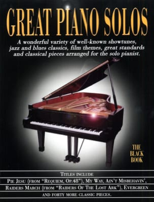 - Great piano solos - The black book - Sheet Music - di-arezzo.com