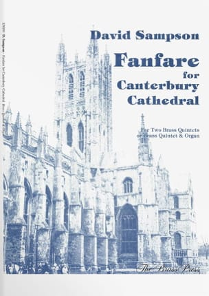 Fanfare For Canterbury Cathedral - David Sampson - laflutedepan.com