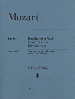 Wolfgang Amadeus Mozart - Hornkonzert Nr. 4 Es-Dur KV 495 - Partition - di-arezzo.fr