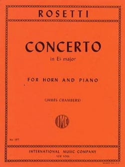 Francesco Antonio Rosetti - Concerto in E flat major - Sheet Music - di-arezzo.co.uk