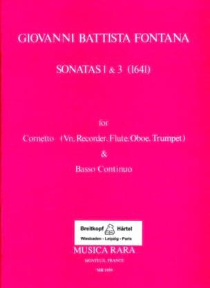 Giovanni Battista Fontana - Sonatas 1 & 3 1641) - Partition - di-arezzo.fr