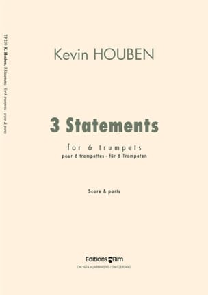 Kevin Houben - Three Statements - Conducteur et Parties - Partition - di-arezzo.fr