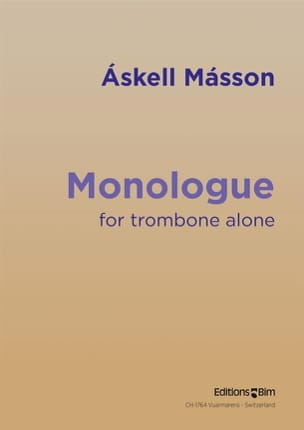 Monologue - Askell Masson - Partition - Trombone - laflutedepan.com