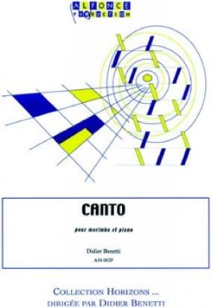Didier Benetti - Canto - Partition - di-arezzo.fr