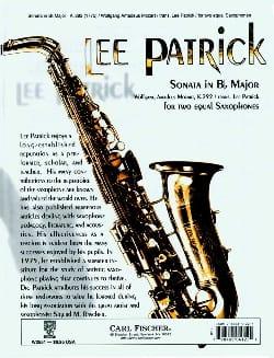 Sonate En Sib Majeur - MOZART - Partition - laflutedepan.com