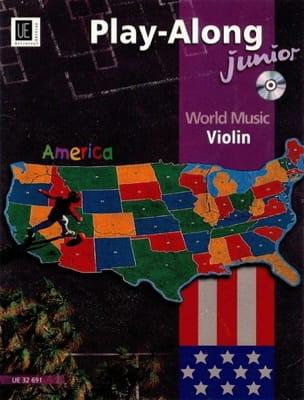 World Music America Play-Along Violin Junior Partition laflutedepan