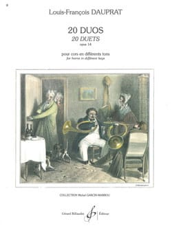 Louis-François Dauprat - 20 Duos Opus 14 - Sheet Music - di-arezzo.com