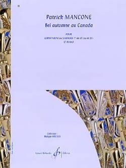 Patrick Mancone - Bel Automne Au Canada - Partition - di-arezzo.fr