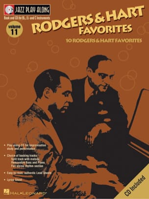 Richard Rodgers & Lorenz Hart - Jazz play-along volume 11 - Rodgers And Hart Favorites - Partition - di-arezzo.fr